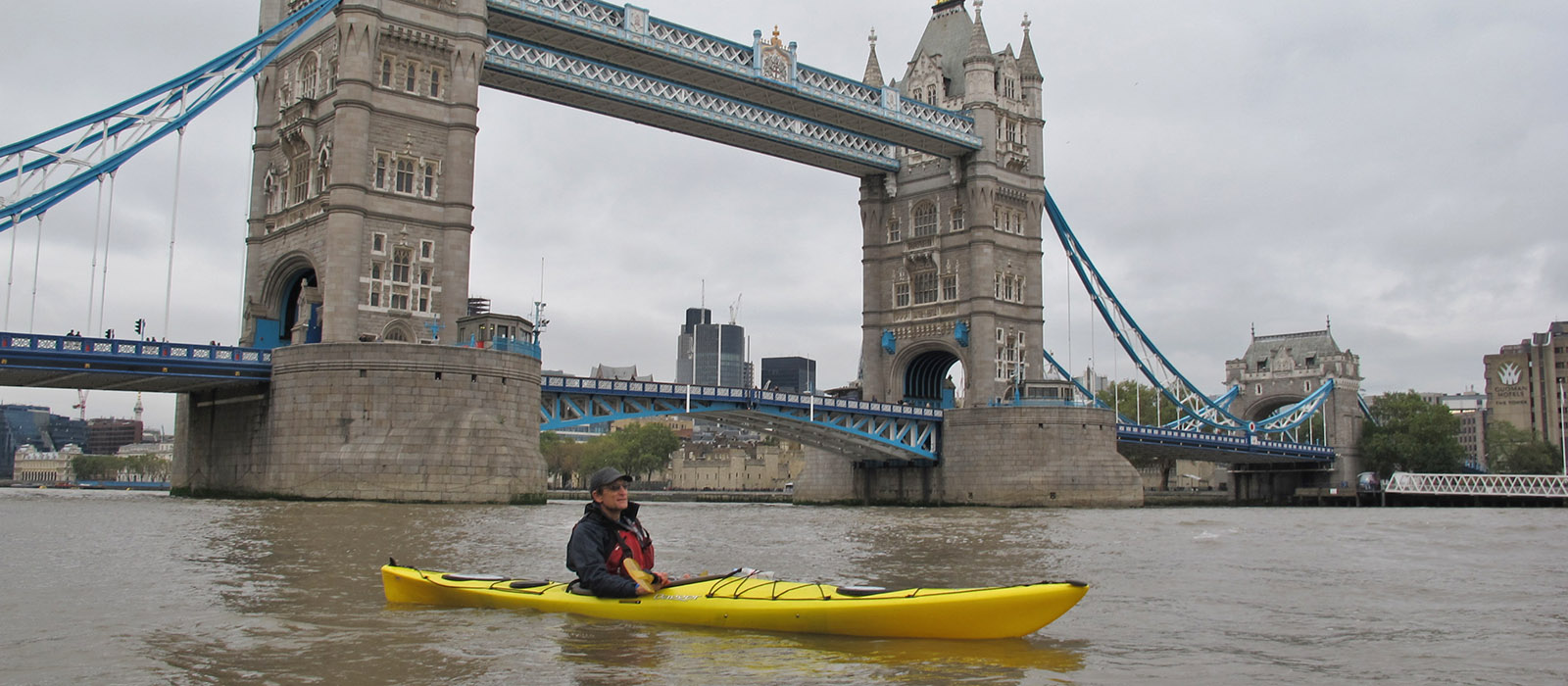 tower bridge and kayaking with London Kayak